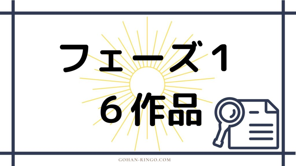 【MCU】マーベル映画公開順:フェーズ1
